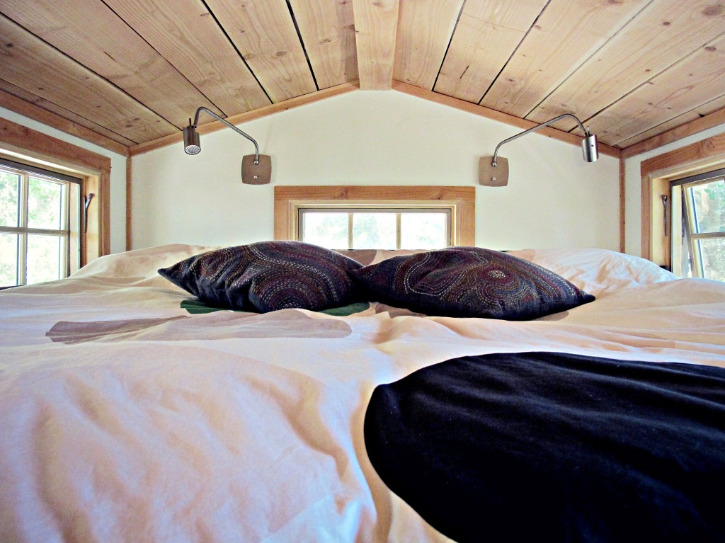Our sleeping loft with two twin XL mattresses, side by side. Pretty spacious.