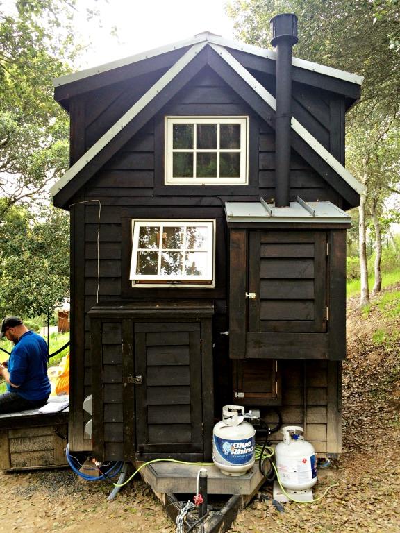Finished solar shed